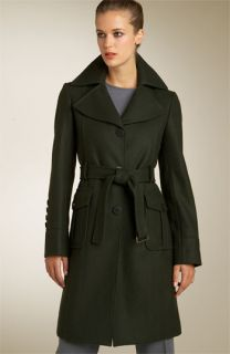 Kenneth Cole Belted Wool Trench Coat