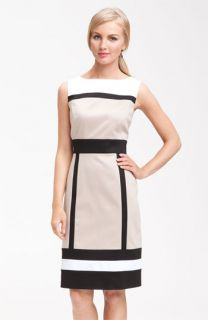 Tahari by Arthur S. Levine Sleeveless Colorblock Sheath Dress