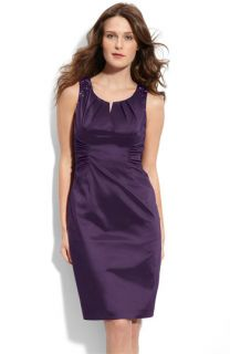 Adrianna Papell Beaded Taffeta Sheath Dress (Petite Focus)