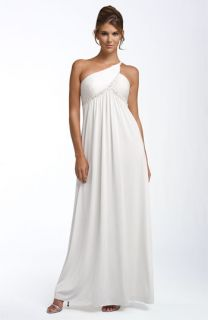 Adrianna Papell One Shoulder Beaded Jersey Gown