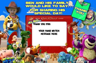 Toy Story 3 Personalized Custom Thank You Cards w Pic