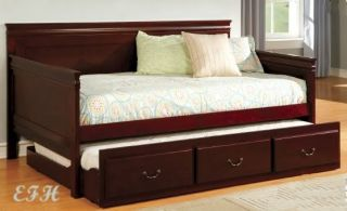 Savannah Dark Cherry Wood Finish Platform Twin Daybed