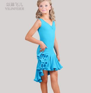 Latin Salsa Ballroom Dance Dress Girls Dancewear FY032