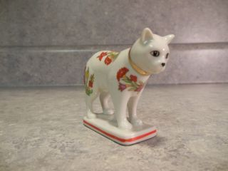 FRANKLIN MINT KAKIEMON VINTAGE CURIO CABINET CAT SMALL PORCELAIN
