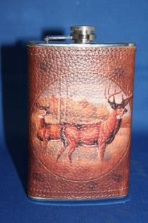 boxed gift DEER FLASK TRAIL RIDE CAMPING GEAR OUTDOOR SPORTING GOODS