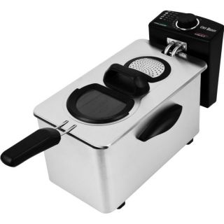 Chef Buddy 3 5L Electric Deep Fryer Stainless Steel