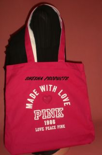 Victoria Secret Pink Made with Love 1986 Tote Bag New