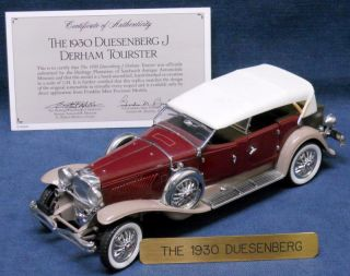 1930 Duesenberg J Derham Tourster Franklin Mint Precision Models