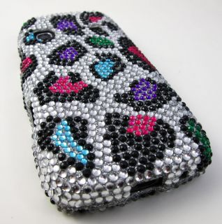 LEOPARD DIAMOND HARD CASE COVER SAMSUNG REPLENISH M580 PHONE ACCESSORY