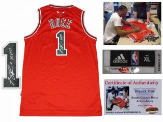 Derrick Rose Signed Chicago Bulls Adidas Away Jersey
