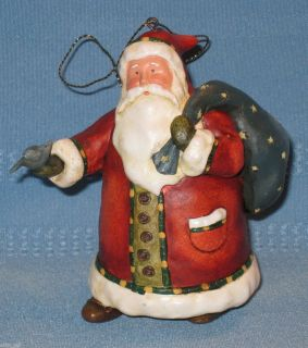 Lang Company Greeting Santa Christmas Ornament by Debi Hron 2004