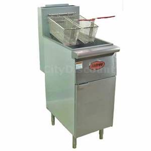 Entree F3 P 40lb LP Gas Restaurant Deep Fryer w Two Fry Baskets