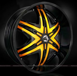 28 inch Rims Wheels Diablo Elite Wheels Hummer H2 Black w Rims Tire