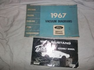LOT 3 1967 Ford Mustang Vacuum Diagram Body Assembly Manual Service