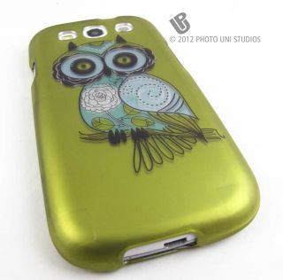 Vintage Owl Design Hard Shell Case Cover Samsung Galaxy s 3 III S3
