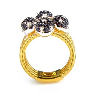 Della Riva 18K Yellow Gold Multi Diamond Spheres Ring