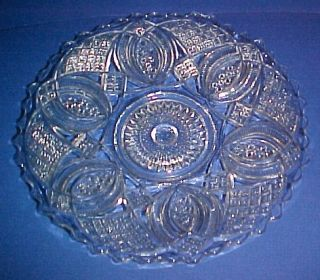 EAPG Imperial Glass 88 Diamond Ring 10 1 2 Cake Plate