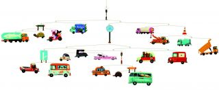 Djeco Traffic Cars Truck Automobile Hanging Baby Mobile