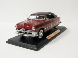 1950 Ford Diecast Model Car   Maisto   118 Scale   Red