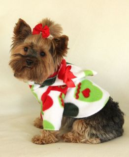 XS Christmas Mittens Dog Hoodie Clothes Shirt Pet Apparel