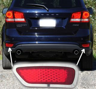 2012 12 Dodge Journey Lower Rear Bumper Markers Chrome Trim Bezel Kit