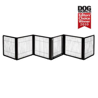 Elite 6 Panel Pet Dog Gate Room Divider Pet Pen Black
