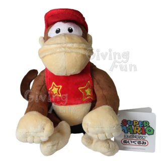 Genuine Nintendo Super Mario Bros Diddy Kong Plush Doll
