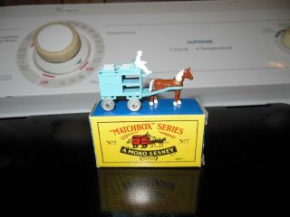 Matchbox Series A Moko Lesney 7 Milk Cart with Horse Buggy and Driver