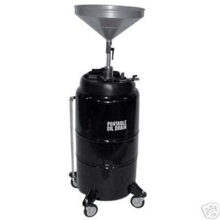 Oil Drain Caddy Portable 25 Gallon Cap Commercial