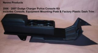 2006 2007 Dodge Charger Police Center Console Kit with Dash Trim and