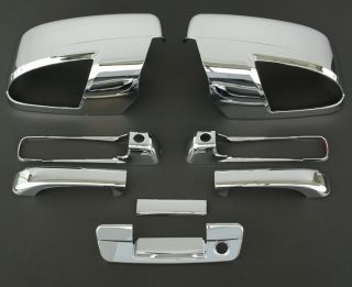 2009 2011 Dodge RAM 3D Chrome Door Mirror Tailgate Handle Cover