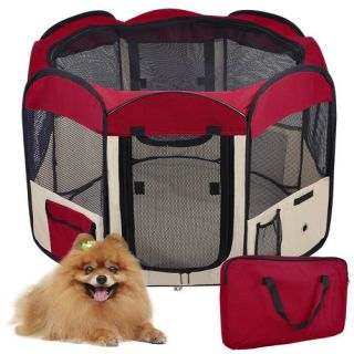 Dog Cat Guinea Pig Pet 2 Door Playpen Run Puppy Soft Exercise Kennel