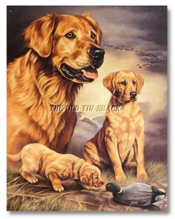 Nostalgic Tin Metal Sign Golden Retriever Hunt Experience Joanne