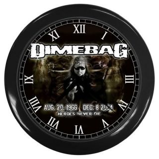 Rip Dimebag Darrell Rock Legend Guitar Hero Wall Clock