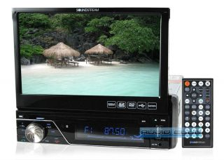 7830B in Dash 7 LCD Screen Single DIN Car Stereo DVD Bluetooth