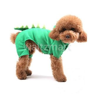 Dog Pet Apparel Cool Dinosaur Clothes Hoodie Coat Winter Warm Jumpsuit