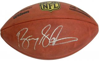 Lions Barry Sanders Signed Wilson Duke Official NFL Game Football