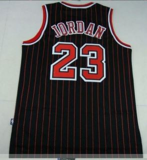 Michael Jordan Chicago Bulls 23 Swingman Black T Jersey