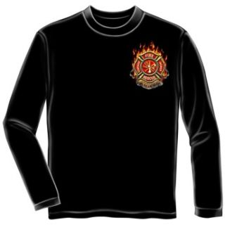 Firefighter Fire Rescue American Made Long Sleeve T Shirt