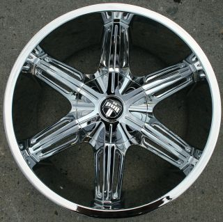 DUB DRONE S190 20 CHROME RIMS WHEELS TITAN PICKUP TRUCK / 20 X 8.5 6H