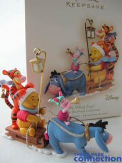 Hallmark POOH Oh, What Fun Christmas 2007 Tree Ornament Eeyore Piglet