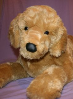 Sherman Douglas Giant 46 Plush Golden Retriever Stuffed Animal Dog