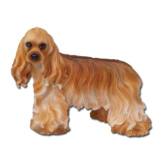 Cocker Spaniel Dog Figurine Standing Lifelike Statue