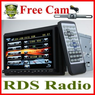 Free Night Camera 7 Car DVD Stereo Double DIN in Dash
