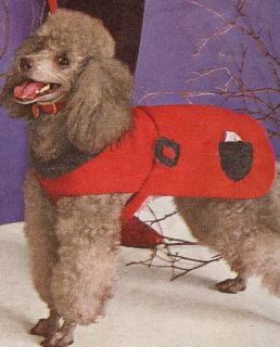 Vintage Knitting Pattern Dog Sweater Coat Small Med LG