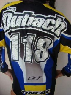 Hand Autograph Message Doug Dubach ONeal Motocross Racing Jersey 118