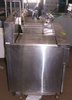Filter Magic II (2) Double Deep Fat Fryer FMH250BLSC, Gas, Timer Shelf