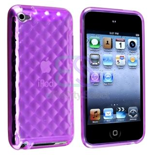 6X TPU Gel Hard Soft Skin Case Cover for iPod Touch 4 4th Gen Screen