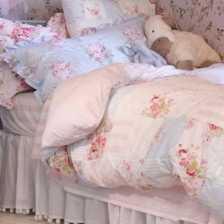 Shabby Chic Rachel Ashwell Queen Bed Roseblossom Bella Rose Wildflower
