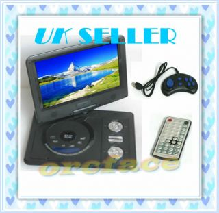COLOR TFT LCD PORTABLE IN CAR AUTO DVD PLAYER+GAME+CD+VCD++SD+TV
